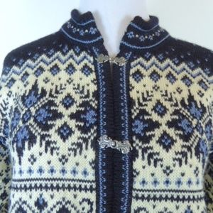 Dale of Norway Wool Nordic Cardigan Sweater S